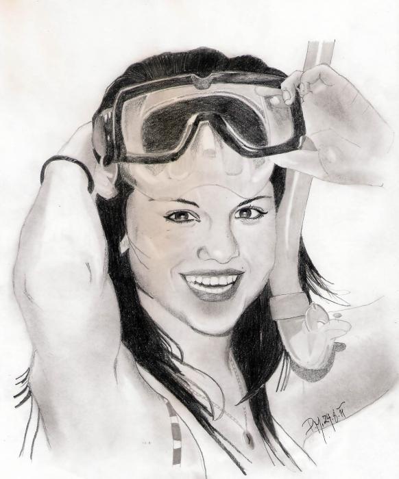 Starsportraits Retratos De Selena Gomez Por Pavlina